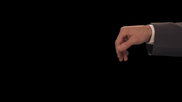 vídeos de stock e filmes b-roll de ms hand shoo away - dedo humano