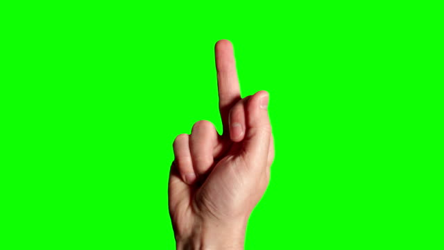 hand showing middle finger - hd - v sign stock videos & royalty-free footage