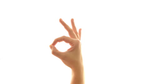 hand sign - ok sign stock videos & royalty-free footage