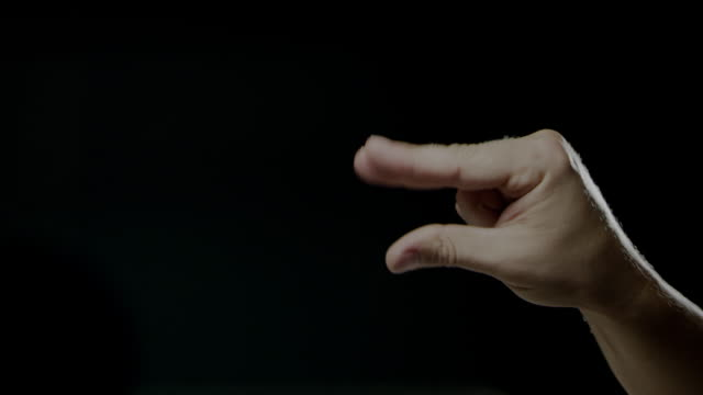 hand signs language black background slow motion caucasian human - sign language stock videos & royalty-free footage