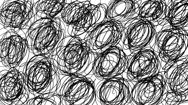 Hand Sketched Cartoon Lines Background in Stop Motion