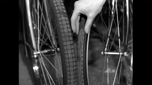 cu hand testing different bicycle tyre types; 1952 - 1952 stock videos & royalty-free footage