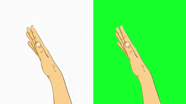 hand touchscreen gestures on green screen stock video - hand sign stock videos & royalty-free footage