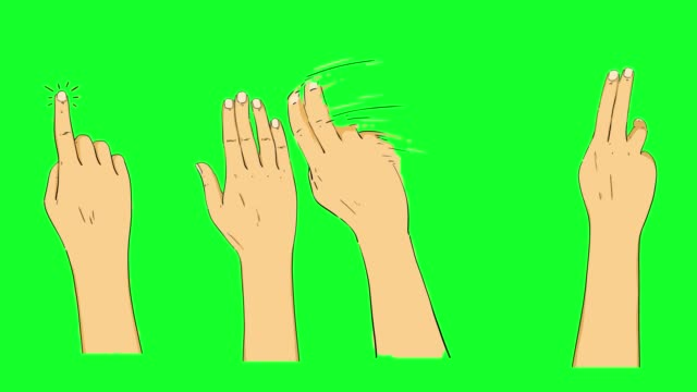 hand touchscreen gestures on green screen stock video - gesturing stock videos & royalty-free footage