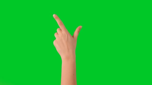 hand touchscreen gestures on green screen - gesturing stock videos & royalty-free footage