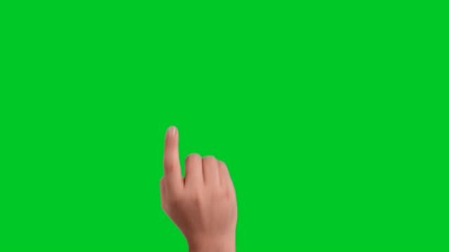 hand touchscreen gestures on green screen - males stock videos & royalty-free footage