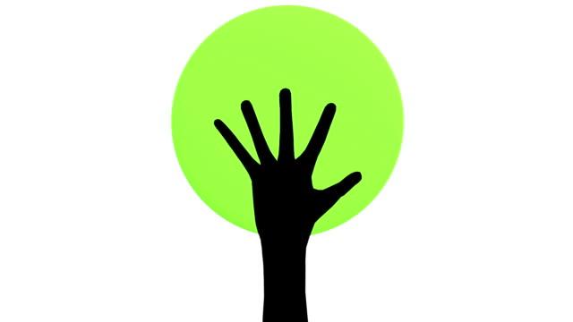 vídeos y material grabado en eventos de stock de manos de árbol - símbolo de la paz conceptos