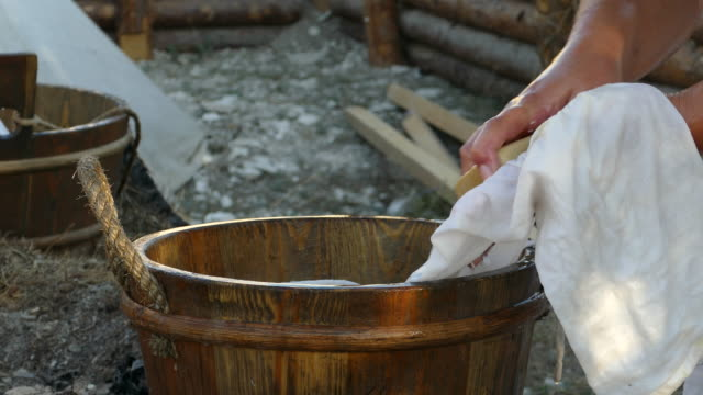 hand wash the old-fashioned - laundry stock videos & royalty-free footage