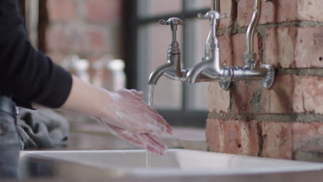 hand washing - soap sud stock videos & royalty-free footage