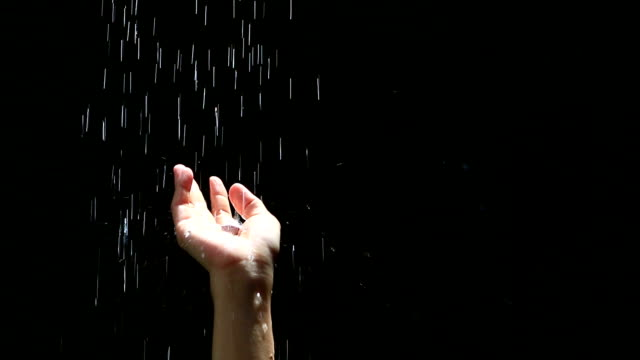 hand water drops