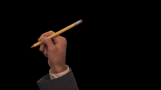 ms hand with pencil writes one line - scribble stock videos & royalty-free footage