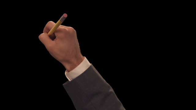ms hand with pencil writes  two lines - scribble stock videos & royalty-free footage