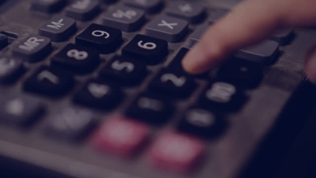 hand working calculator - debt stock videos & royalty-free footage