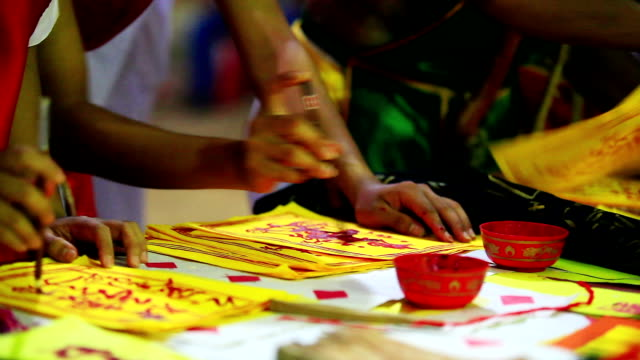 hand write talisman - kuala lumpur stock videos & royalty-free footage