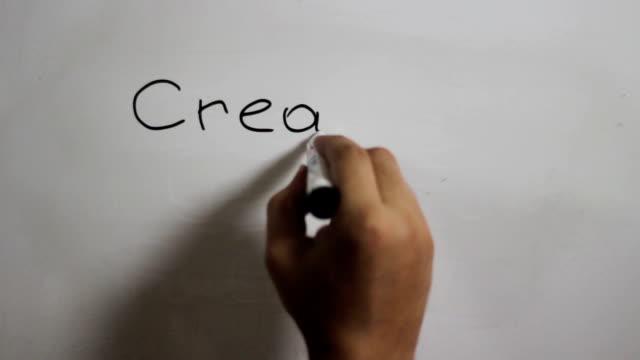 """Handschrift eine """"erstellen Sie Ihre Zukunft!"""" auf Tafel"""