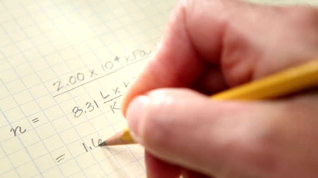 hand writing equation - graph paper stock videos & royalty-free footage