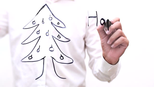 """hand writing """"happy new year"""" - interactive whiteboard stock videos & royalty-free footage"""