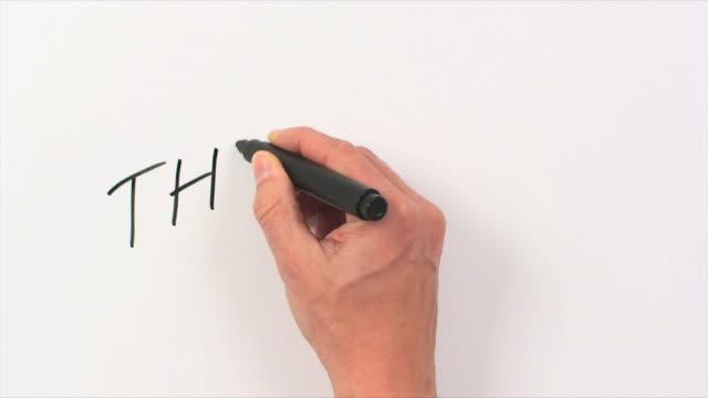 Hand Schreiben Wort zum Ende