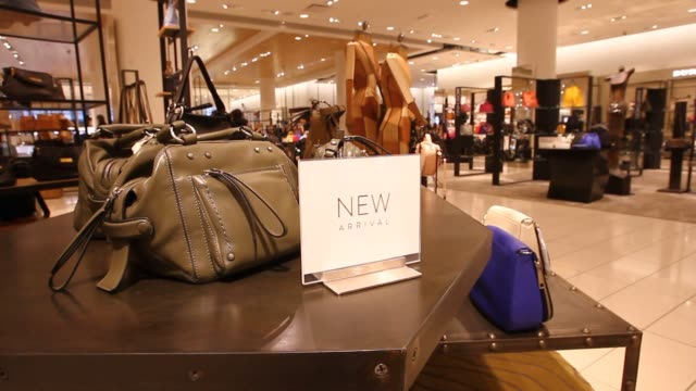 handbags and luggage are displayed for sale in a nordstrom inc store in downtown vancouver british columbia canada on wednesday feb 17 2016 nordstrom... - luggage stock videos & royalty-free footage