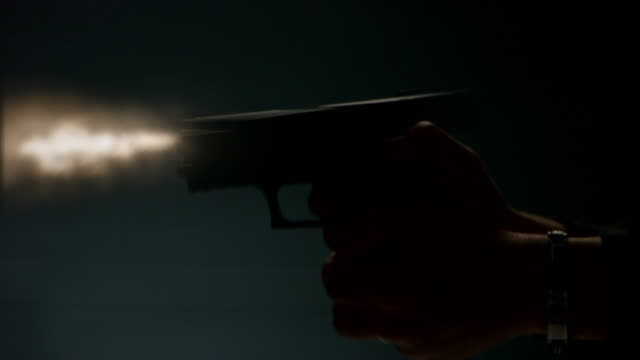 cu of handgun shooting - handgun stock videos and b-roll footage