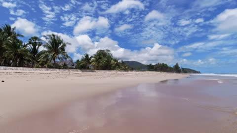 handheld 360 degree panorama panning perfect white sandy beach vacation andaman sea - panning stock videos & royalty-free footage