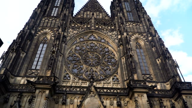 handheld low angle view: st. george's basilica, cathedral church,  prague - prague stock videos & royalty-free footage