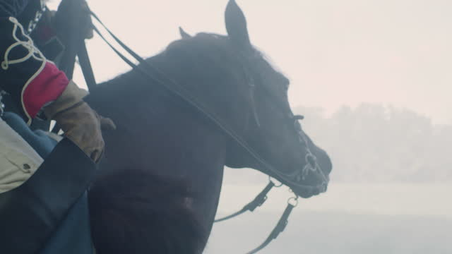 handheld shot of a horseman - bridle stock videos & royalty-free footage