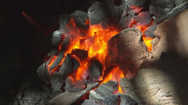 Handheld shot of an ember