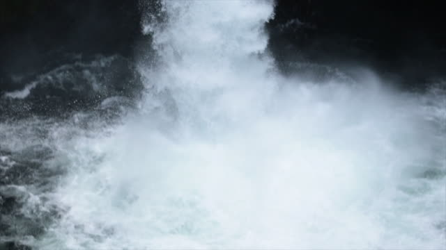 handheld shot of whitewater kayaker descending from waterfall at forest - columbia river gorge stock videos & royalty-free footage