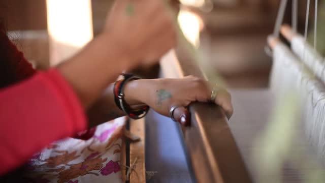 handloom craft with extraordinary skills and craftsmanship - craft stock videos & royalty-free footage