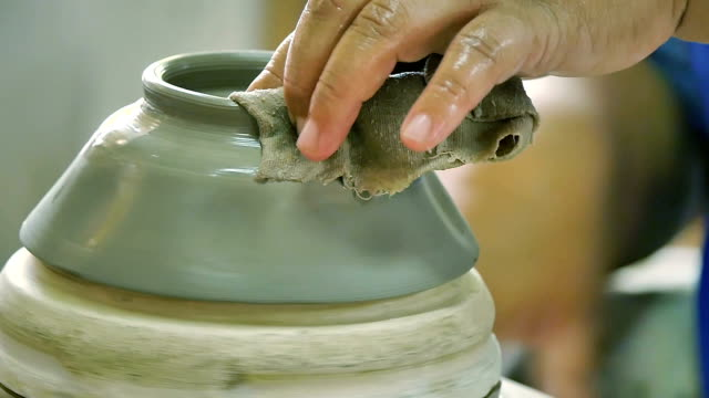 handmade ceramics factory in lampang province - kiln stock videos and b-roll footage