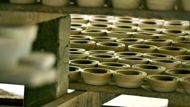 handmade ceramics factory in lampang province - ceramics stock videos & royalty-free footage
