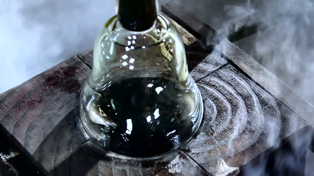 handmade crystal factory (hd) - decanter stock videos & royalty-free footage