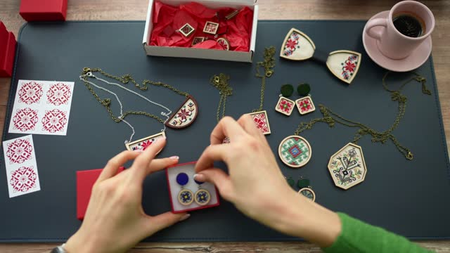handmade jewellery business from home - jewellery stock videos & royalty-free footage