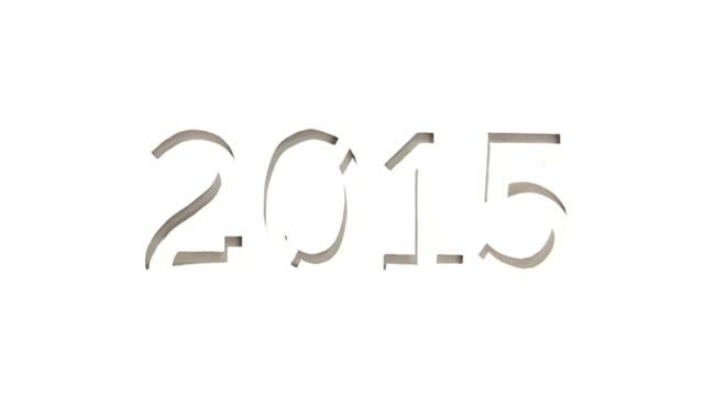 vídeos de stock, filmes e b-roll de novo ano 2015 papel artesanal estêncil - dia do ano novo