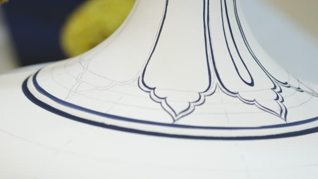handmade tile porcelain iznik - porcelain stock videos & royalty-free footage