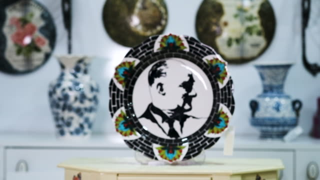 handmade tile porcelain - porcelain stock videos & royalty-free footage