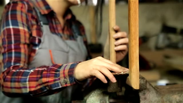 Handmade woodworking,close up