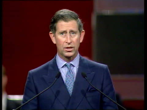 handover events; prince charles speech - china will tonight take responsibility for a place and a people which matter greatly to us all tung chee hwa... - responsibility stock videos & royalty-free footage