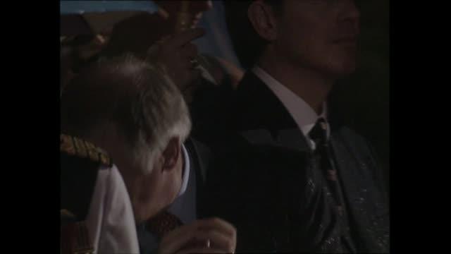 british sunset ceremony / prince charles speech hong kong wan chai hms tamar military base continuation of british sunset ceremony 6 of 16 troops... - wan chai stock videos & royalty-free footage