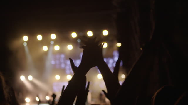 Hands clapping at concert