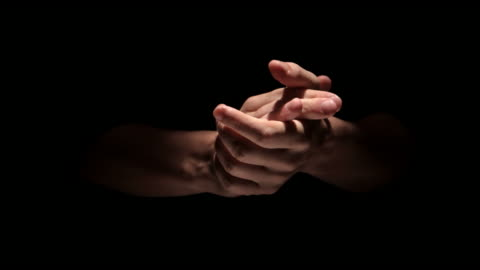 hands clapping on black background close up - clapping hands stock videos & royalty-free footage