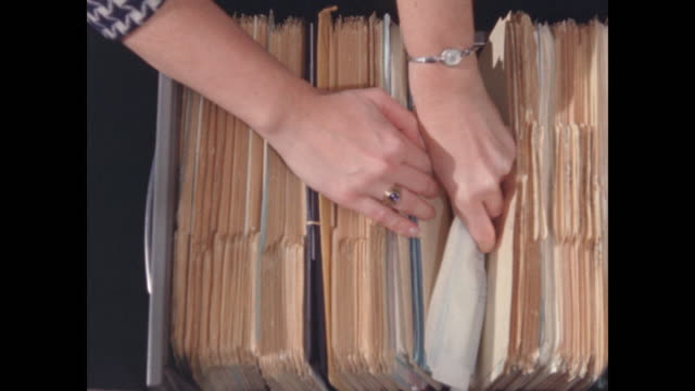 hands filing papers in file cabinet - file stock videos & royalty-free footage