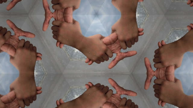 hands holding together kaleidoscope
