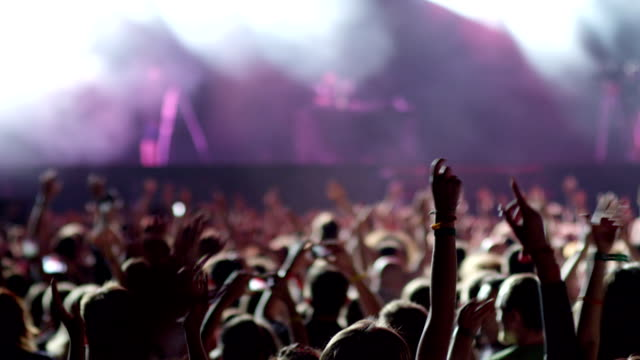 hands in air at concert - music festival stock videos & royalty-free footage