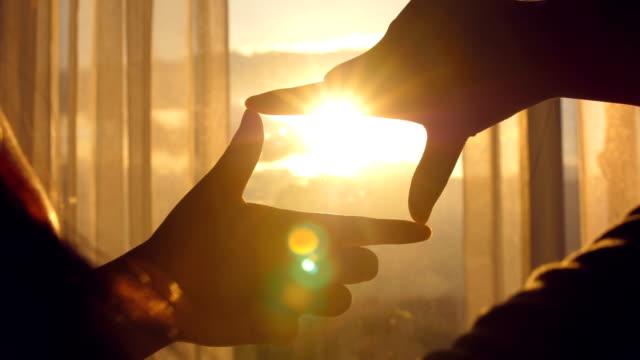 hands making frame gesture - finger stock videos & royalty-free footage