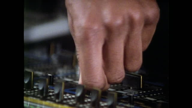 cu hands mixing and scratching vinyl record; 1989 - human finger stock videos & royalty-free footage