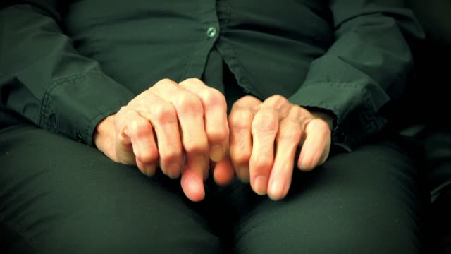 Hands of a senior woman making gestures