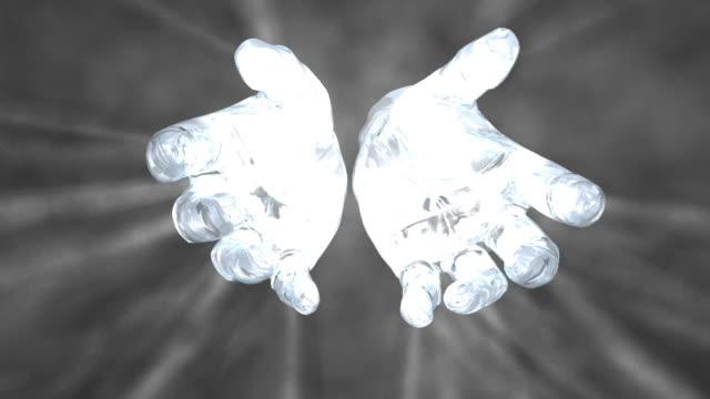 Hands of God on black