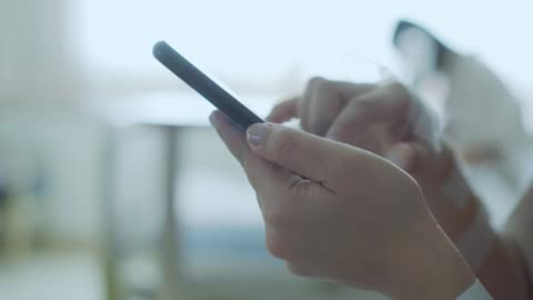 hands of patient using smart phone,close-up - injured stock videos & royalty-free footage